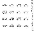 Set of car icons 25248343