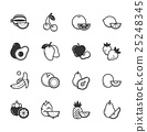 Set of fruits and vegetables icons 25248345