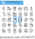 Business Essentials, thin line icons set 25248375