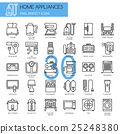 Home Appliances , thin line icons set 25248380
