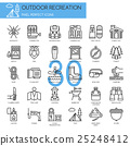 Outdoor Recreation , thin line icons set 25248412