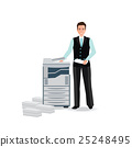 Businessman using copy machine or printing machine 25248495