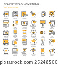 ADVERTISING , thin line icons set  25248500