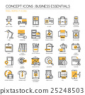 Business Essentials, thin line icons set 25248503