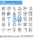 Construction Tools  , thin line icons set 25248507
