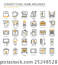 Home Appliances , thin line icons set  25248528