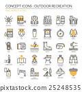 Outdoor Recreation , thin line icons set  25248535
