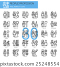 People Profession , thin line icons set 25248554