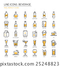 Beverage , thin line icons set ,pixel perfect icon 25248823