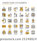 City Elements , thin line icons set  25248824