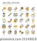 Fastfood, thin line icons set ,pixel perfect icon 25248828