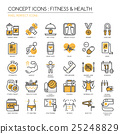 Fitness & Health , thin line icons set 25248829