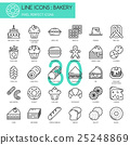 Bakery , thin line icons set, Pixel perfect icons 25248869