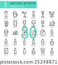 Beverage , thin line icons set ,pixel perfect icon 25248871