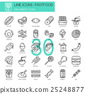 Fastfood, thin line icons set ,pixel perfect icon 25248877