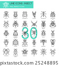 Insect , thin line icons set ,pixel perfect icon 25248895