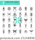 Insect , thin line icons set ,pixel perfect icon 25248896