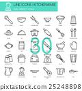 Kitchenware , thin line icons set 25248898
