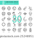 Space , thin line icons set ,pixel perfect icon 25248951