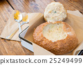 bread, clam chowder, soups 25249499