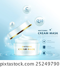 Cream mask ad template 25249790