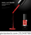 Elegant red nail polish ad template 25249798