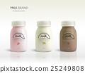 Milk bottle template design 25249808