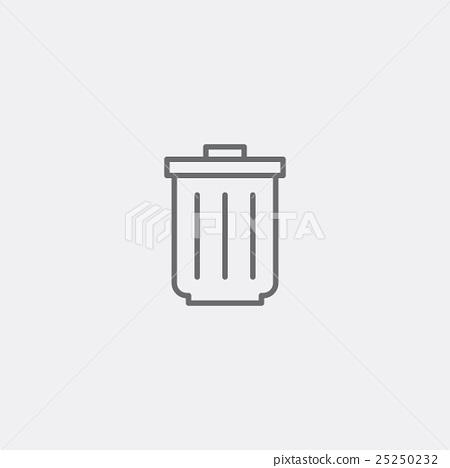 Trash bin icon 25250232