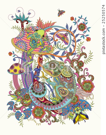 Gorgeous adult coloring page 25250574