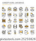 Car serviec , Thin Line and Pixel Perfect Icons 25250826