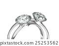 鑽石 戒指 環 25253562