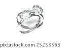 鑽石 戒指 環 25253563