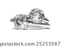 戒指 環 鑽石 25253567