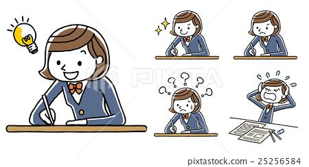 学习的女孩学习 25256584
