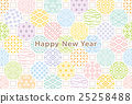 new, year's, card 25258488