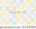 新年贺卡日式背景传统图案丰富多彩 25258488