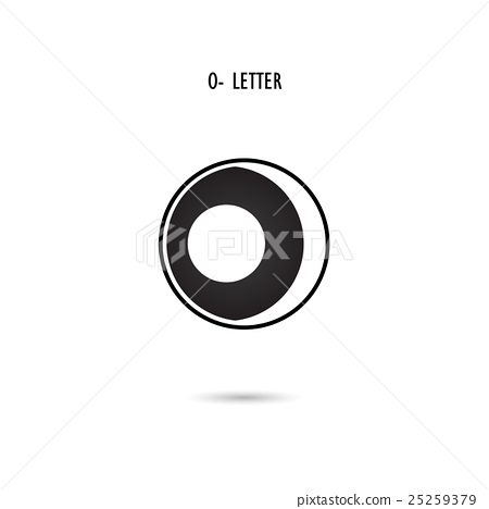 Creative O Letter Icon Abstract Logo Design Stock Illustration