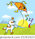 dog with kite illustration 25261623