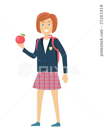 Schoolgirl Isolated Character 25261918