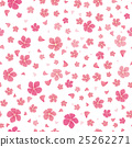 Sakura Flowers Isolated on White. Seamless Pattern 25262271