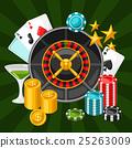 casino, gambling, vector 25263009