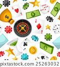gambling, vector, coin 25263032