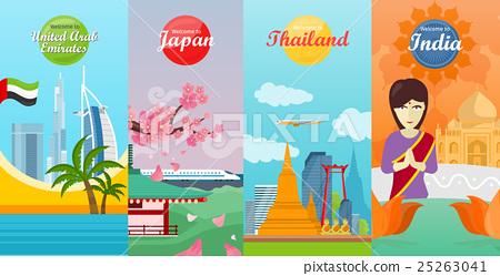 India, Emirates, Thailand, Japan Travel Posters 25263041