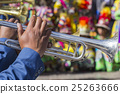musicians of a brass band on parade in Cuzco, Peru 25263666