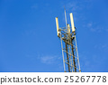 A high telecommunication network antenna outside 25267778