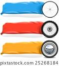banner, wheel, vector 25268184