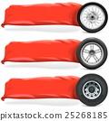 banner, tire, rubber 25268185