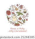 Merry Christmas card 25268385