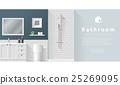 Interior design Modern bathroom background 2 25269095
