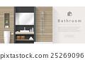 Interior design Modern bathroom background 3 25269096